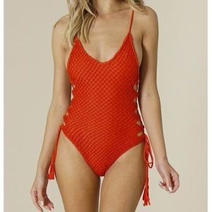 acacia swimwear Swim - Acacia Florence crochet one piece swimsuit